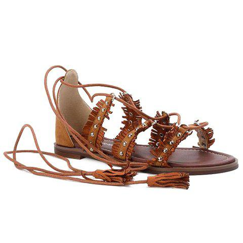 Sale Casual Lace-Up and Tassels Design Sandals For Women