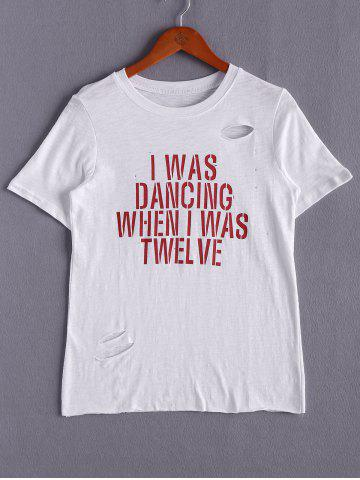 New Casual Short Sleeve Letter Print Round Neck Women's T-Shirt