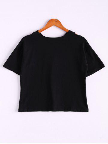 Sale Stylish Cross Back Round Neck Short Sleeve Women's T-Shirt