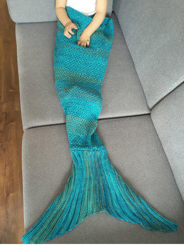 Cheap Fashion Stripe Knitted Mermaid Tail Design Blanket For Kids - COLORMIX  Mobile