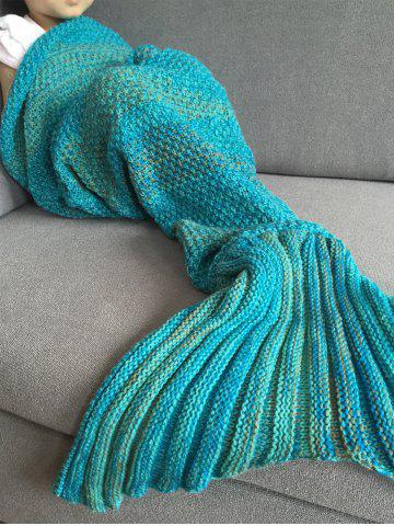 Discount Fashion Stripe Knitted Mermaid Tail Design Blanket For Kids - COLORMIX  Mobile