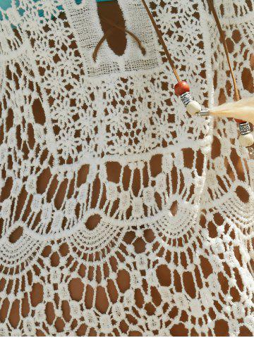 Latest Hollow Out Lace Swimsuit Cover-Ups - ONE SIZE(FIT SIZE XS TO M) WHITE Mobile