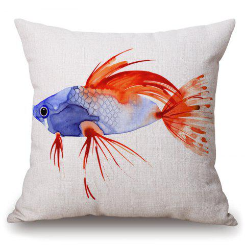 Outfits Fashionable Watercolor Fish Pattern Square Shape Pillowcase (Without Pillow Inner)