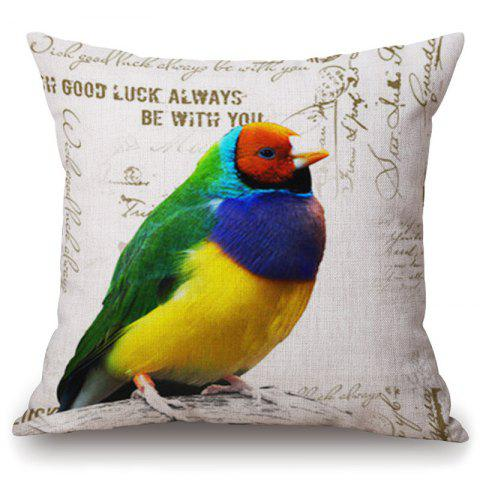 Shops Fashionable Colorful Parrot Pattern Square Shape Pillowcase (Without Pillow Inner)