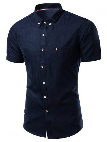 Outfits Modish Turn-Down Collar Short Sleeve Button-Down Shirt For Men