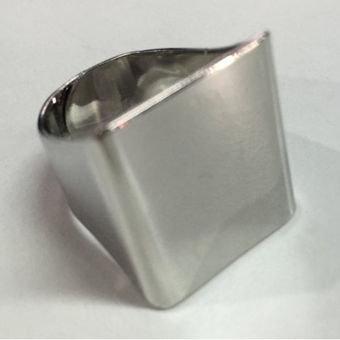 Unique Vintage Polishing Geometric Ring SILVER ONE-SIZE