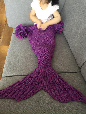 Cheap Falbala Shape Mermaid Tail Design Knitted Baby Blankets