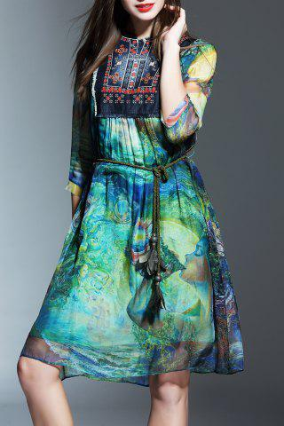 Buy Patched Colorful Dress