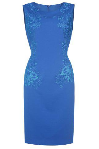 Outfit Embroidered Bodycon Midi Dress For Women
