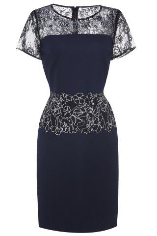 Shop Lace Embroidered Midi Dress For Women