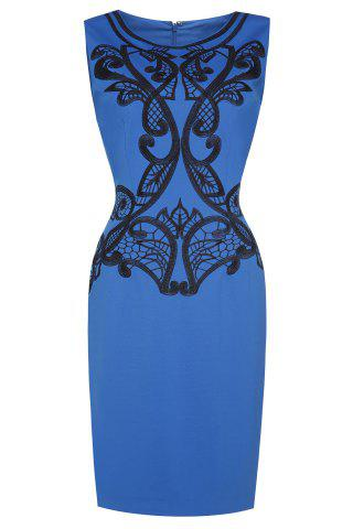 Cheap Embroidered Sleeveless Pencil Dress For Women
