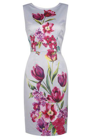 Fashion Sheath Floral Sleeveless Dress