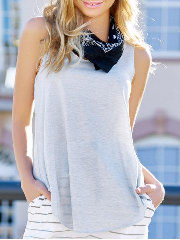 Shop Plunging Neck Sleeveless Simple Style Solid Color Modal Women's Tank Top