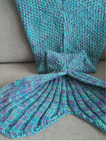 Affordable Stylish Knitted Mermaid Baby Blanket - COLORMIX  Mobile