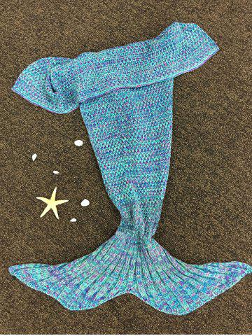 Chic Stylish Knitted Mermaid Baby Blanket - COLORMIX  Mobile