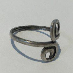Characteristic Simple Design 8-Shaped Cuff Feet Ring For Women - SILVER