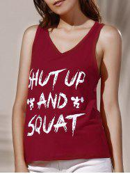 Racerback Letter Graphic Tank Top