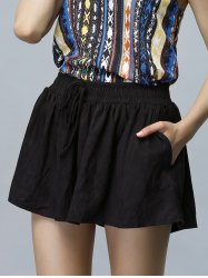 Casual Elastic Waist Wide Leg Loose Women's Shorts