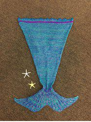 Fashion Falbala Shape Knitted Mermaid Tail Design Blankets For Baby - COLORMIX