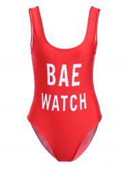 Backless One Piece Swimsuit -
