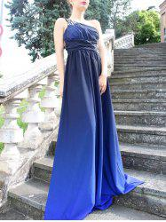 Floor Length Rhinestone One Strap Ombre Evening Formal Dress