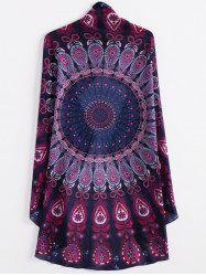 Fashionable Round Shape Printed Convertible Women's Cape -