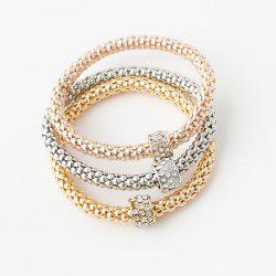 Chic Multilayer Rhinestone Circle Charm Bracelets For Women - COLORMIX