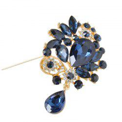 Rhinestone Faux Crystal Water Drop Brooch