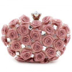 Chic Rose and Rhinestone Design Evening Bag For Women -