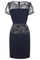 Lace Embroidered Midi Dress For Women -