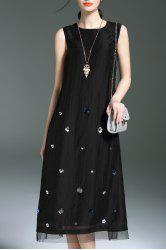 Sequined Sleeveless Midi Dress For Women -