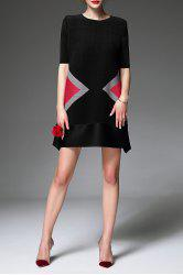 Colorblock Mini Trapeze Dress