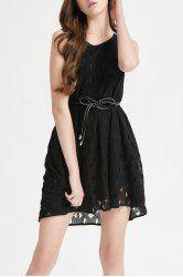 Hollow Out Lace Mini Dress -