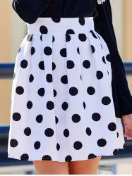Sweet High-Waisted Polka Dot Ruffled Women's Skirt