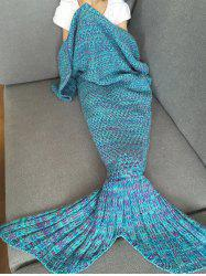 Stylish Knitted Mermaid Baby Blanket