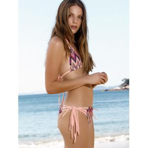 Sexy Wavy Stripe Lace-Up Women's Micro Bikini Set -