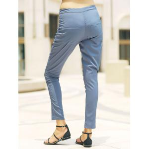 Stylish High-Waisted Pocket Design Slimming Women's Pants -