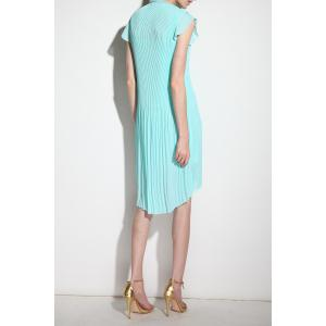 Asymmetric Keyhole Neck Dress For Women -