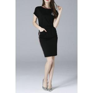 Applique Short Sleeve T-Shirt and Pencil Skirt Twinset -