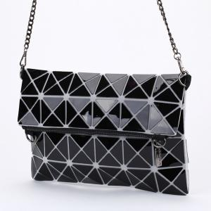 Stylish Checked and Zip Design Clutch Bag For Women -