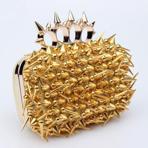 Stylish Studded and Metal Design Evening Bag For Women -