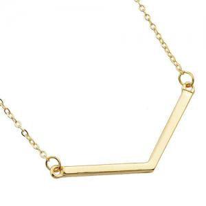 Double Layered Bar Pendants Necklace -