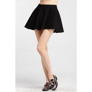 Slimming High Waist Solid Color Skirt -