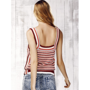 Striped Knit Tank Top - STRIPE ONE SIZE(FIT SIZE XS TO M)