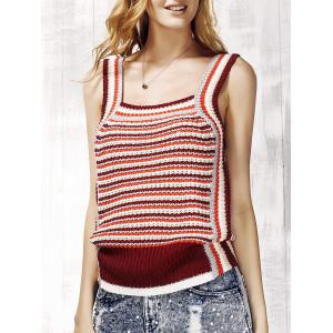 Striped Knit Tank Top