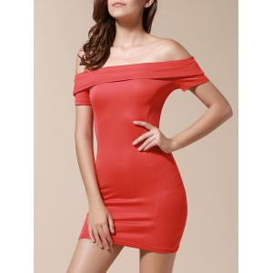 Off The Shoulder Bodycon Short Dress