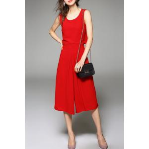 Capri Culotte Pants with Chiffon Tank Top -