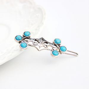 Vintage Faux Turquoise Heart Hairpin For Women -