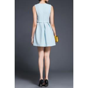 Faux Twinset Solid Color Dress -
