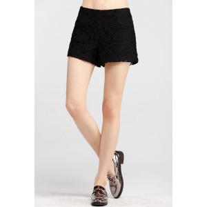 Mid Waist Lace Shorts -